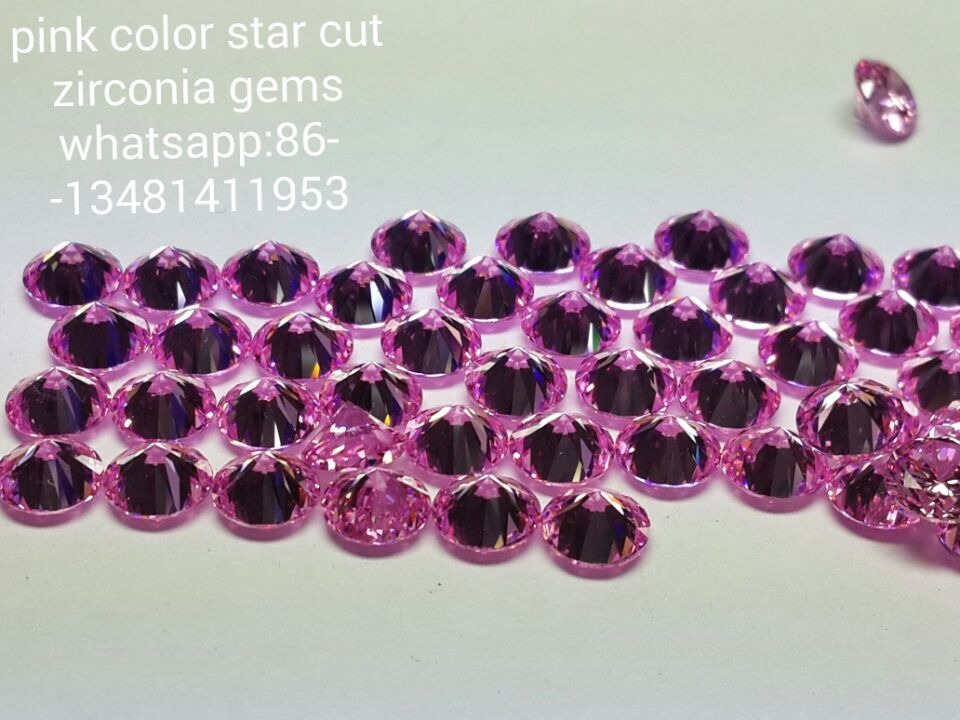 color zirconia gems star cut supplier